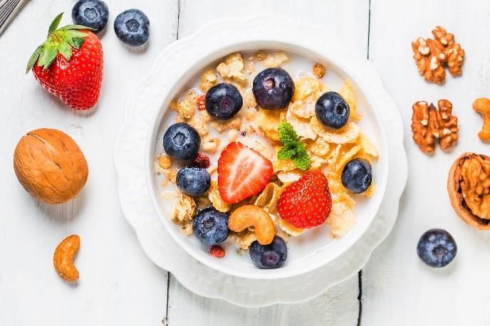 מוזלי עם פירות, ארוחת בוקר לגאוט
