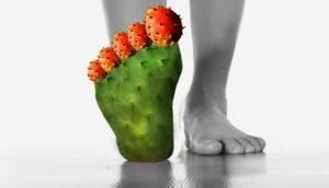 כאב בבוהן הרגל, גאוט ברגל, כף רגל כקקטוס